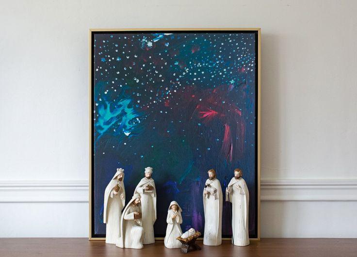 Nativity Sky Canvas