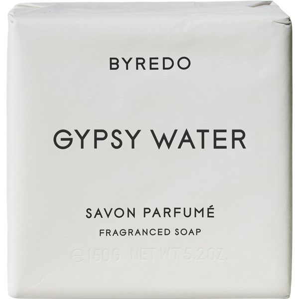 Byredo Gypsy Water Soap Bar 150g ($30) ❤ liked on Polyvore featuring beauty products, bath & body products, body cleansers, fillers, beauty, makeup, white, body, colorless and byredo
