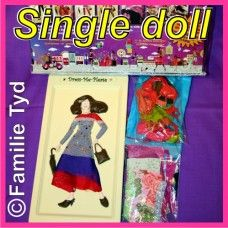 Dress-Me-Please doll: Doll + Fabric + Accessories. ONLY R160!! This is a must-have educational doll that keeps them busy for hours!