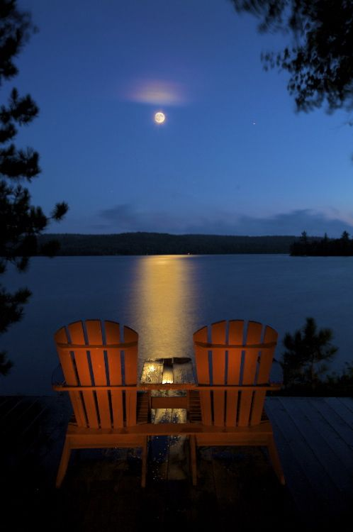 Can't wait to pack up my shit and get the hell up to Cottage Country for the rest of my life. Muskoka bound 'till I get there.  Two chairs perfect. One for Ryan and one for me. Amazing