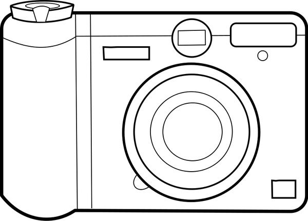 Camera Coloring Pages Coloring Pages For Kids Simple Camera