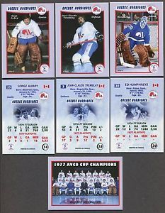 1976-77 WHA Quebec Nordiques Team Set of 28 hockey cards AVCO CUP CHAMPIONS