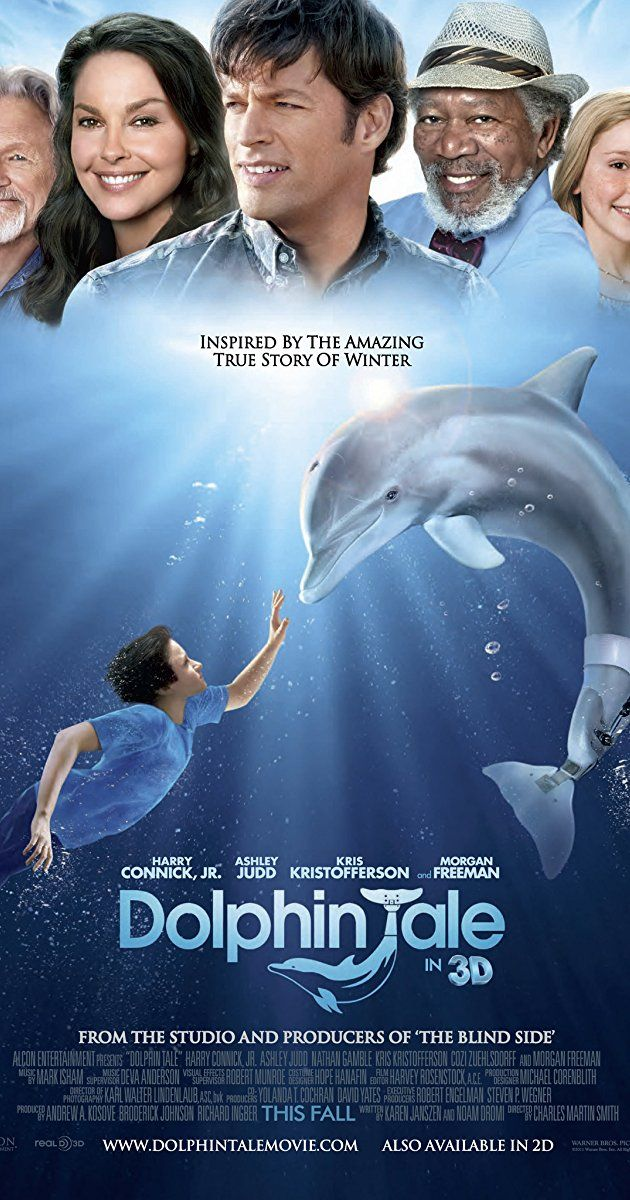 Directed by Charles Martin Smith.  With Morgan Freeman, Ashley Judd, Harry Connick Jr., Nathan Gamble. A story centered on the friendship between a boy and a dolphin whose tail was lost in a crab trap.