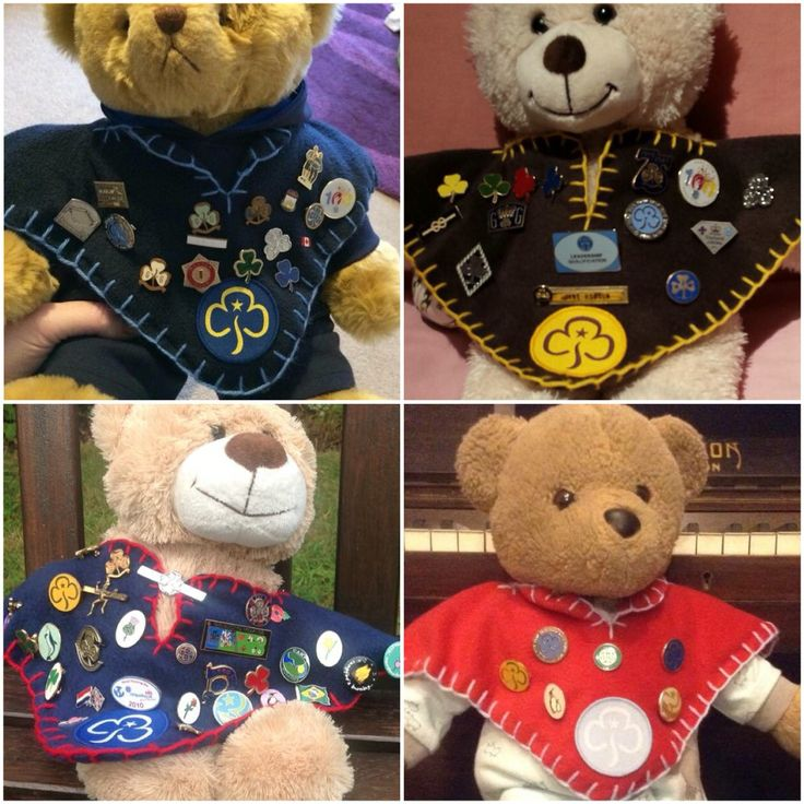 Tiny camp blankets for teddies used to display pin badges // Girlguiding // Camp Blanket Inspiration