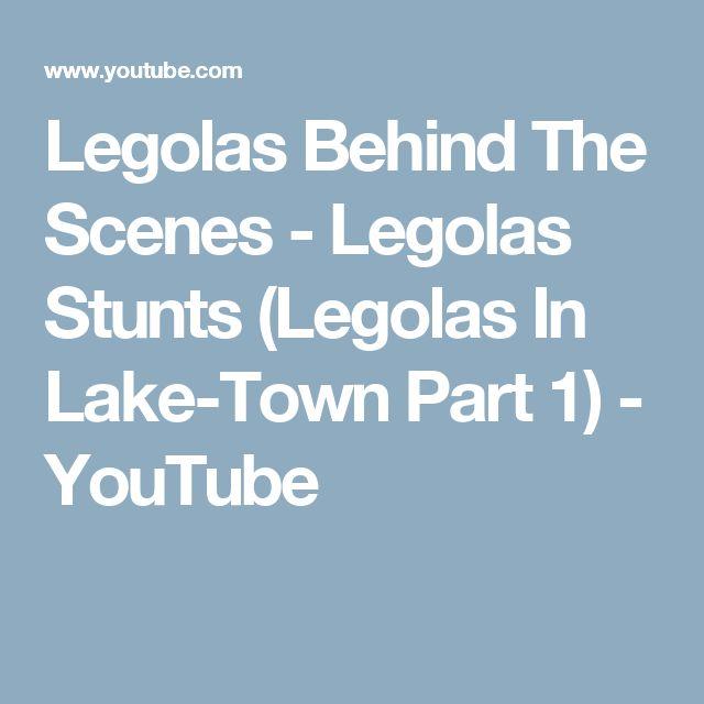 Legolas Behind The Scenes - Legolas Stunts (Legolas In Lake-Town Part 1) - YouTube