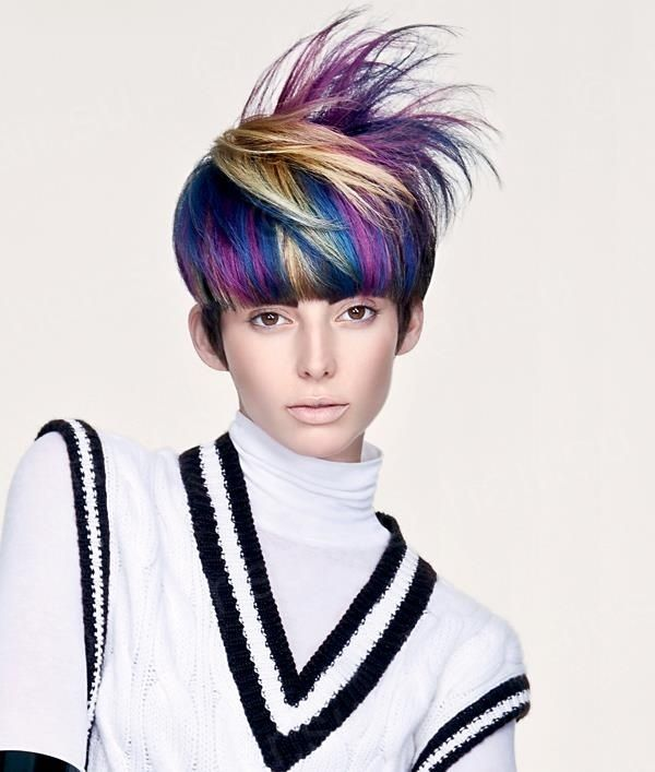 hair style baby peacock hair cut hair blue purple hair color 3524