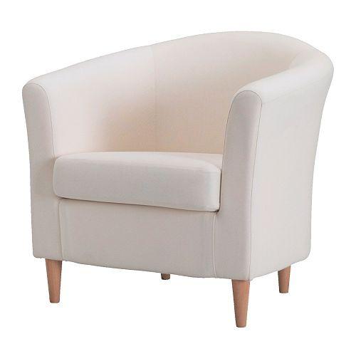 IKEA - TULLSTA, Sessel, Ransta natur, , Ein Extrabezug gibt dem Möbelstück und damit dem Raum im Nu ein neues Aussehen.Dank der großen Auswahl an abgestimmten Bezügen lassen sich Polstermöbel ganz einfach öfter neu gestalten.Zierliches Möbelstück - passt in jeden Raum. 79€