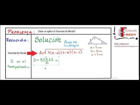 Teorema de Herón. Para hallar el área de un triángulo