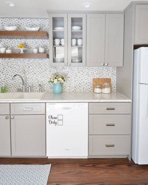 Clean Dirty Dishwasher Decal Use A Dry Erase Marker Or Magnet To