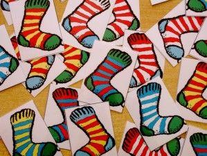 Les paires - jeu des chaussettes et jeu des bonnets: discrimination visuelle - laclassedelila