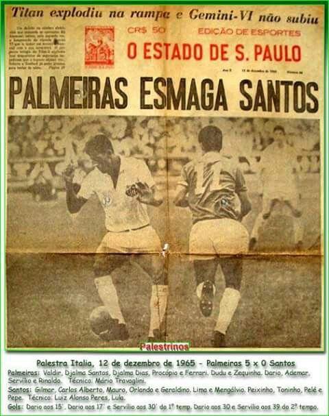 PALMEIRAS esmaga Santos