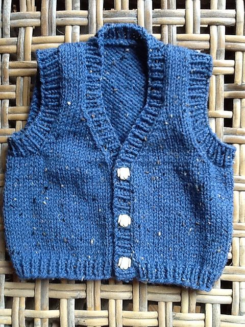 Ravelry: Project Gallery for # 1301 Baby Vests pattern by Diane Soucy