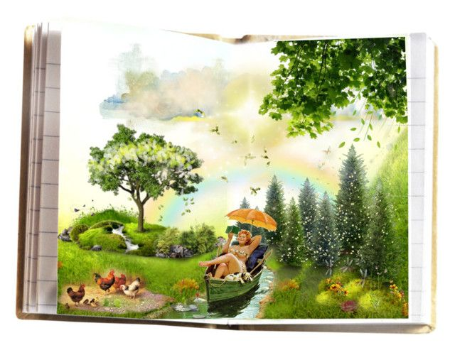 Santai kaya di Sungai by koddey on Polyvore featuring art