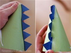 Dinosaur Party Hats {How To} - Simmworks Family Blog