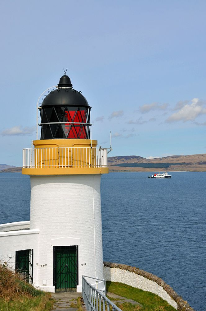 McArthur's Head Lighthouse and Passing Ferry, Isle of Islay