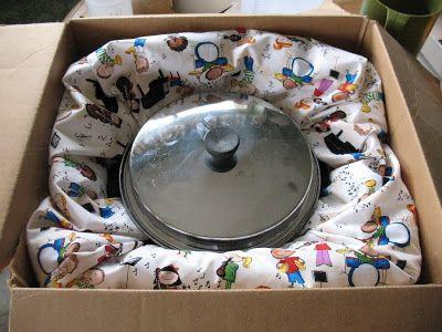 Хранение продуктов питания и выживания - Как сделать Cooking Box Wonder Духовка Изолированный