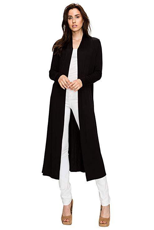 12994b45804 EttelLut Long Lightweight Wrap Cardigans Sweaters Open Front Regular Plus  Size at Amazon Women s Clothing store