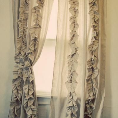 FOR THE GIRLS ROOM : Anthropology Inspired Ruffle Curtains {Drapes}