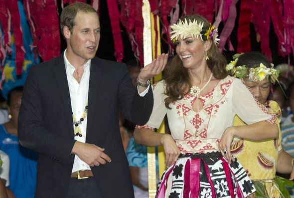 THE Duke and Duchess of Cambridge are to receive the highest award from the South Pacific island nation of Tuvalu - effectively for just going there.  Thu, Mar 30, 2017