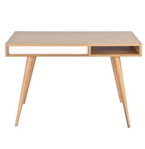 The oak Celine desk by Case furniture. Exclusively stocked by Aero Designs in Australia.