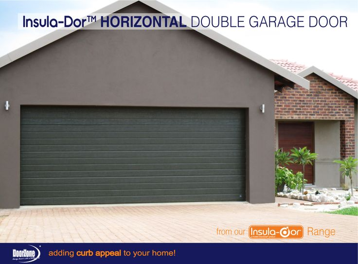 Our Horizontal Insula-Dor™ Insulated garage doors will definitely add a modern slick look to your home. Stylish in design yet retaining the rugged strength and durability of steel with the pinch protection panels. Add a d-force™ Automatic Overhead Garage Door Opener for that extra convenience and safety. www.doorzonesa.com