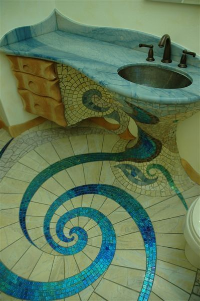 This would be sooo cool and fun to do :)  Getting ideas for my bathroom, huby look out!  This girls ganna take over the project!