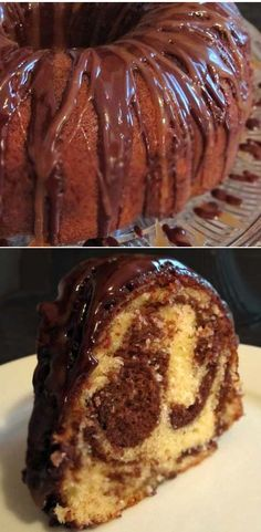 Marble pound cake with sweet cocoa glaze.                                                                                                                                                                                 More