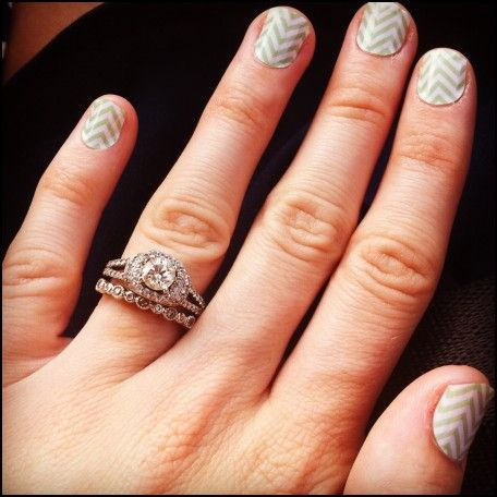 Split Shank Engagement Ring and Wedding Band