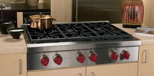 "WOLF 36"" sealed burner rangetop .. just ordered one for myself with the griddle in the middle.  HAPPY GIRL !!"