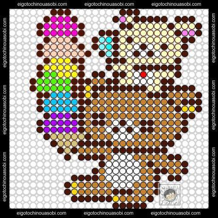 Rilakkuma perler bead pattern