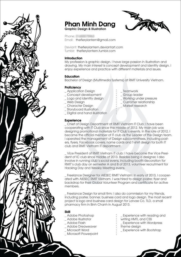 Round-up Of 35 Artistic Resume (CV) Design Ideas - 22 - Pelfind - artistic resume