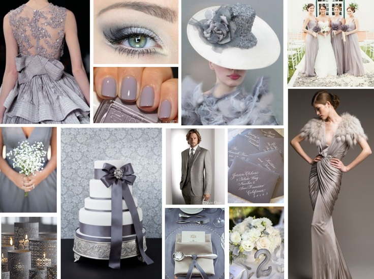 DOVE GREY WEDDING       With a few weeks left remaining in Winter 2012/13 we thought we would be inspired by the glamorous, romance of silvery grey hues.  An ultra-luxe shade which evokes elegance, sophistication and class, these shades are anything but dull.  www.katherinecourtney.com