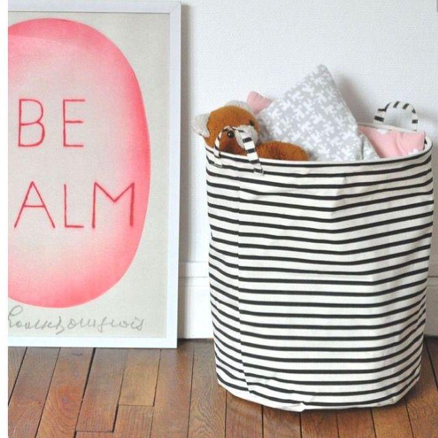 House doctor striped basket - opbergen - storage - toys - kids room - living