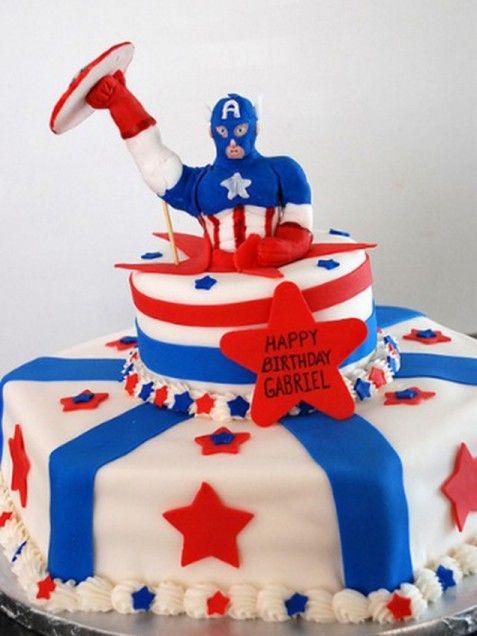 Top your kid's birthday cake with Captain America. http://www.ivillage.com/superhero-birthday-cakes/6-b-447642#447826