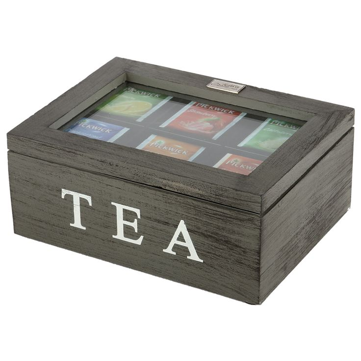 Thee doos Altavilla 6 vaks grijs + zwarte finish. Collectione / Casa-Bella #Accessoires #Opbergen #Doosje #Box #Theedoos #Tea