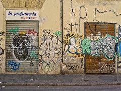 Profumeria, Rome, Italy (Robby Virus) Tags: door italy rome beauty metal shop point graffiti store italian perfume roman entrance tags front rollup rolldown perfumeria