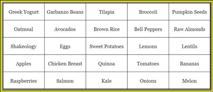 Focus T25 recommends you keep these 25 ingredients in your home and fridge.  You can easily combine these ingredients into a s healthy meal.