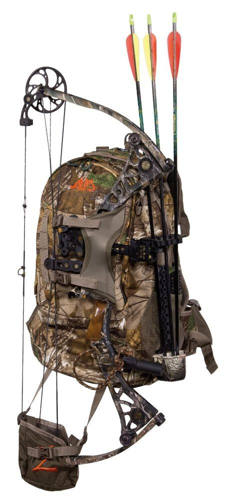 Hunting Backpack. Holds bow or rifle.
