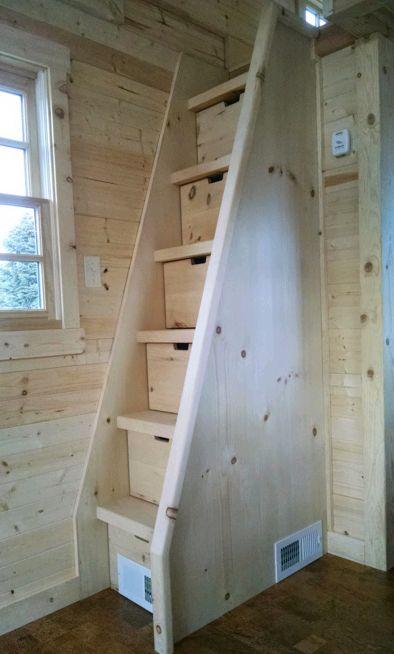 Маленькая лестница на второй этаж-минимум проем.   Столярный блог.