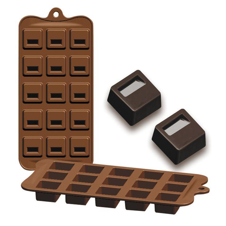Chocolates o bombones cuadrados