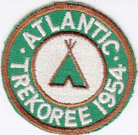 ATLANTIC TREKOREE 1954 - VINTAGE BOY SCOUT PATCH - bidStart (item 19337157 in Collectibles & Ephemera... Camp Patches)