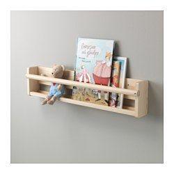 IKEA - FLISAT, Almacenaje de colgar, , A tu hijo no le costará encontrar su libro favorito, ya que el almacenaje de pared tiene la parte frontal abierta.Si cuelgas el almacenaje de pared a la altura adecuada, tu hijo podrá coger su libro favorito para la hora del cuento.Madera maciza.