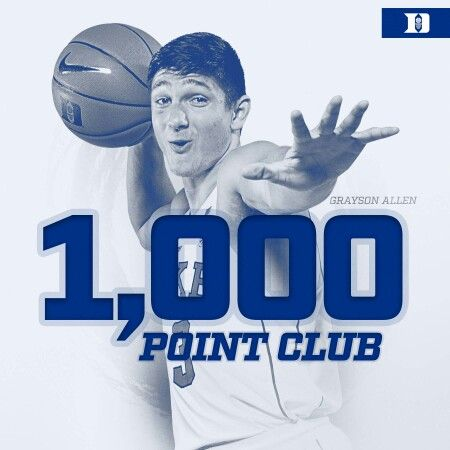 Grayson Allen - 1,000 POINT CLUB - 2016 Duke Basketball