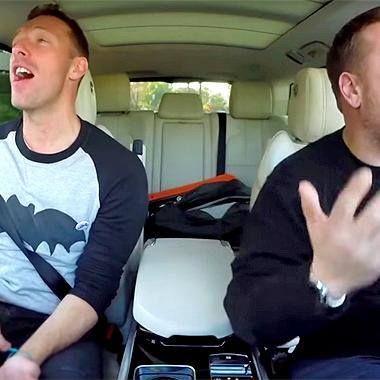 Sneak a peek at Chris Martin doing 'Carpool Karaoke' with James Corden http://shot.ht/1WYTCVO @EW