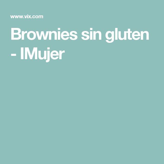 Brownies sin gluten - IMujer