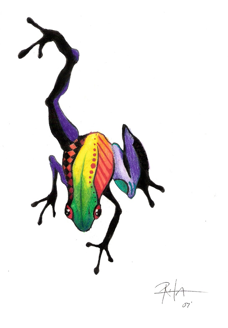 abstract frog tattoo - Google Search