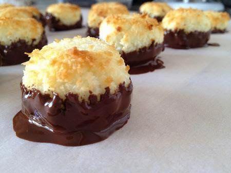 macarron de chocolate y coco