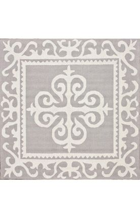 rug option for under kitchen table - 6' square - rugs usa