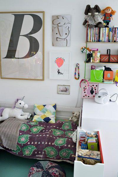 Cute eclectic kids room