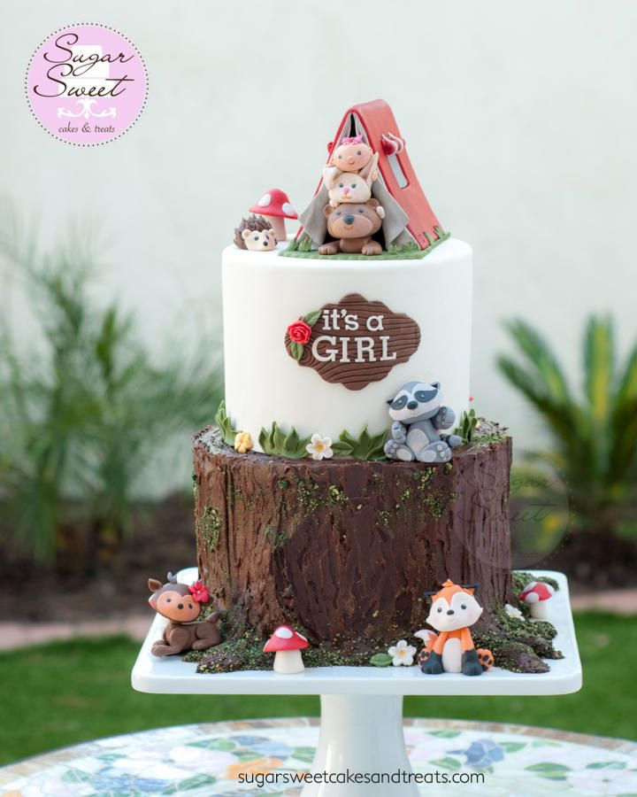 Woodland Critters Baby Shower Cake by Angela SugarSweetCakes&Treats